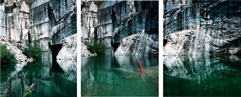 Untitled triptych #2 (Marble Quarry), from Displacement Series 2011, C-Type print, 80cm/100cm, Ed 1/5 + 1 AP. 120/150 cm, Ed 5+ 1 AP. © Giada Ripa