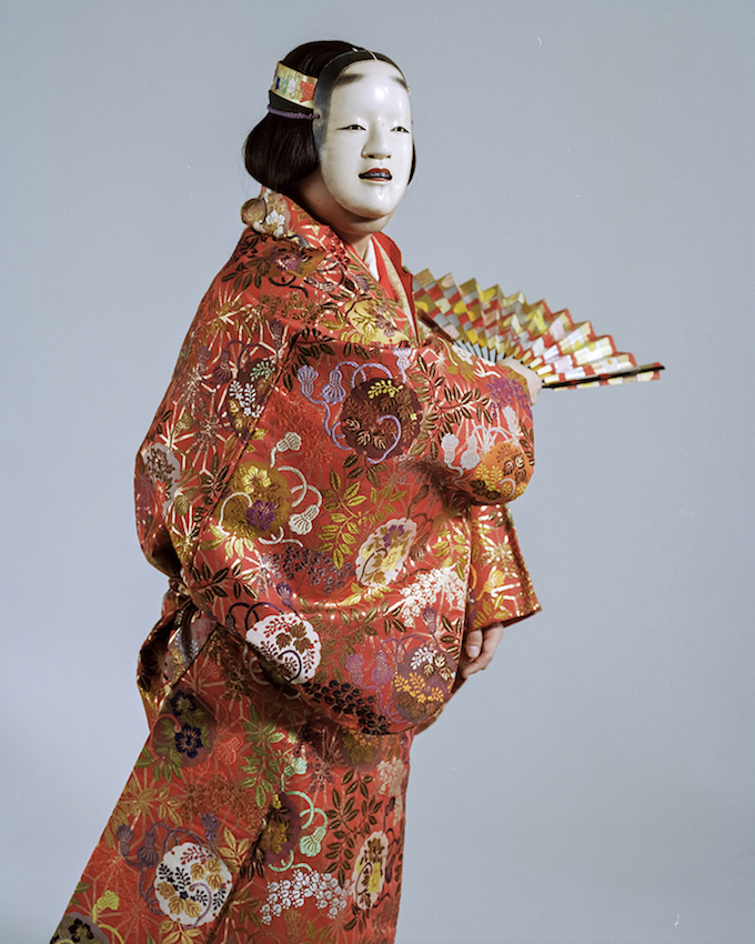 Kazufusa Hosho - 20th Generation Head of Hosho School, Noh Performer, from The Yokohama Project 2016, 100x80cm,, mounted on D-bond with wood frame © Giada Ripa