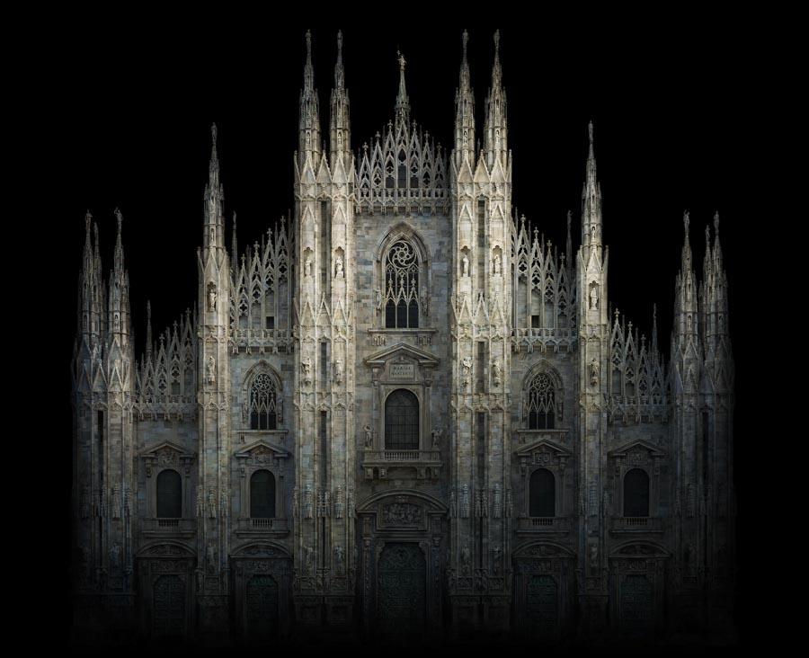 "Duomo, D-print on rag paper, 39.4"" x 48.4"" (100 x 123 cm). © Irene Kung"