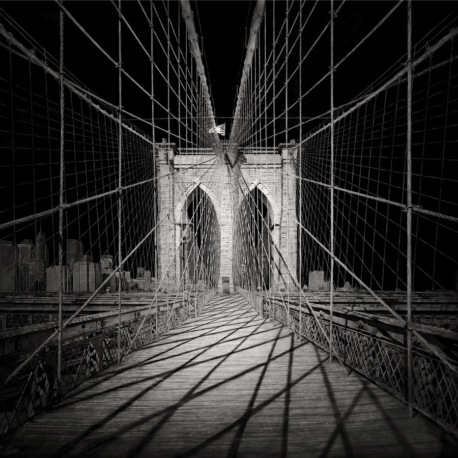 "Brooklyn Bridge, D-print on rag paper, 39.4"" x 39.4"" (100 x 100 cm). © Irene Kung"